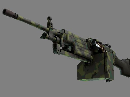 M249 Пиксельный камуфляж «Джунгли»