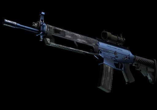 SG 553 Анодированная синева