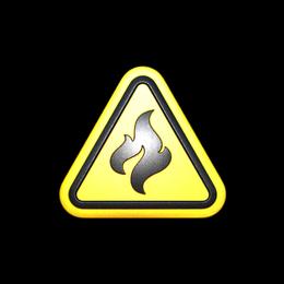 Наклейка | Огнеопасно (металлическая)