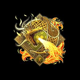 Наклейка   История о драконе (голографическая)