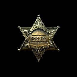 Наклейка | Новый шериф (металлическая)