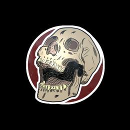Наклейка | Открытый череп