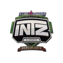 Наклейка   INTZ E-SPORTS CLUB (голографическая)   Берлин 2019