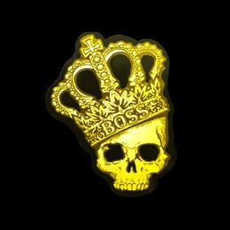 Наклейка | Корона (металлическая)