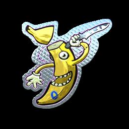 Наклейка | Глупый банан (металлическая)