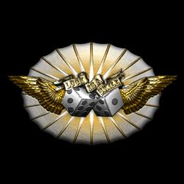 Наклейка   Везунчик (металлическая)