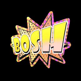 Наклейка | Bosh (голографическая)