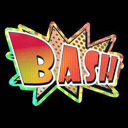 Наклейка | Bash (голографическая)