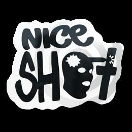 Наклейка | Отличный выстрел
