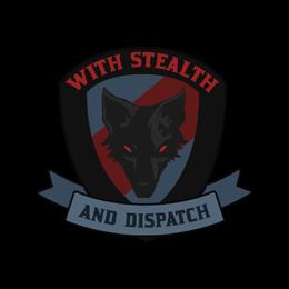 Наклейка   Черный пес