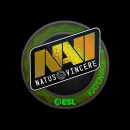 Наклейка   Natus Vincere (голографическая)   Катовице 2019