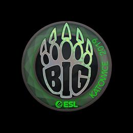 Наклейка | BIG (голографическая) | Катовице 2019