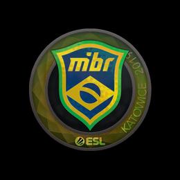 Наклейка   MIBR (голографическая)   Катовице 2019