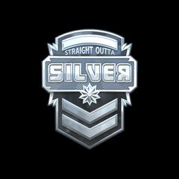 Наклейка | Серебро (голографическая)