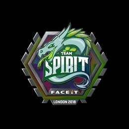 Наклейка | Team Spirit (голографическая) | Лондон 2018