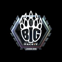 Наклейка | BIG (металлическая) | Лондон 2018