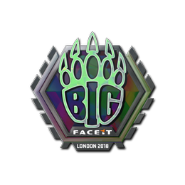 Наклейка | BIG (голографическая) | Лондон 2018