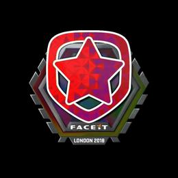 Наклейка | Gambit Esports (голографическая) | Лондон 2018
