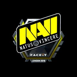 Наклейка | Natus Vincere (металлическая) | Лондон 2018
