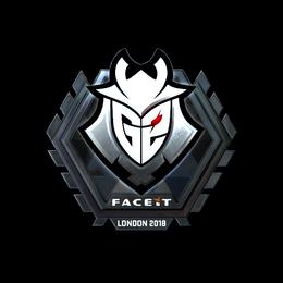 Наклейка | G2 Esports (металлическая) | Лондон 2018