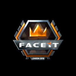 Наклейка | FACEIT (металлическая) | Лондон 2018