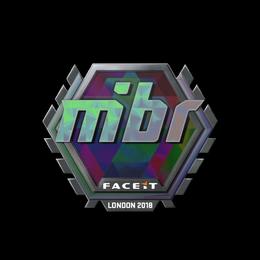 Наклейка   MIBR (голографическая)   Лондон 2018
