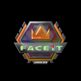Наклейка   FACEIT (голографическая)   Лондон 2018