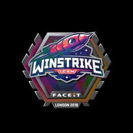 Наклейка   Winstrike Team (голографическая)   Лондон 2018