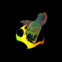 Наклейка | Ненасытное пламя (голографическая)