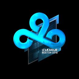 Наклейка | Cloud9 (металлическая) | Бостон 2018