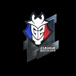 Наклейка | G2 Esports (металлическая) | Бостон 2018