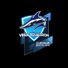 Наклейка | Vega Squadron (металлическая) | Бостон 2018