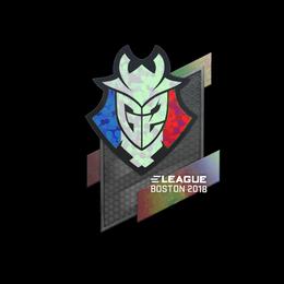 Наклейка | G2 Esports (голографическая) | Бостон 2018
