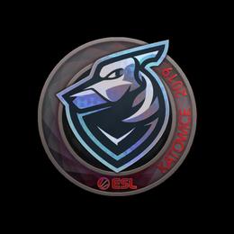Наклейка | Grayhound Gaming (голографическая) | Катовице 2019