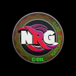 Наклейка | NRG (голографическая) | Катовице 2019