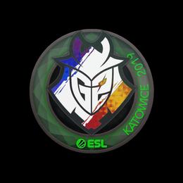 Наклейка | G2 Esports (голографическая) | Катовице 2019