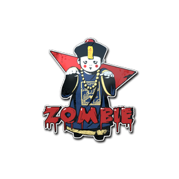 Наклейка   Зомби