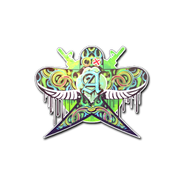Наклейка | Зелёная ласточка