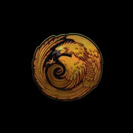 Наклейка | Возрождение феникса (металлическая)