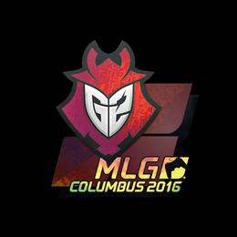 Наклейка | G2 Esports (голографическая) | Колумбус 2016
