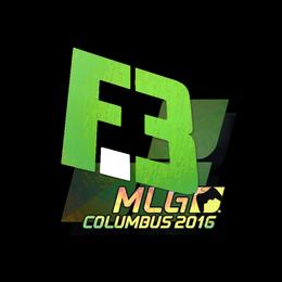 Наклейка | Flipsid3 Tactics (голографическая) | Колумбус 2016