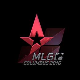 Наклейка   Astralis (металлическая)   MLG Columbus 2016