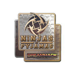 Наклейка | Ninjas in Pyjamas (голографическая) | DreamHack 2014