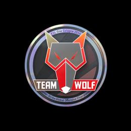 Наклейка | MTS GameGod Wolf (голографическая) | Кёльн 2014