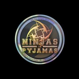 Наклейка | Ninjas in Pyjamas (голографическая) | Кёльн 2014