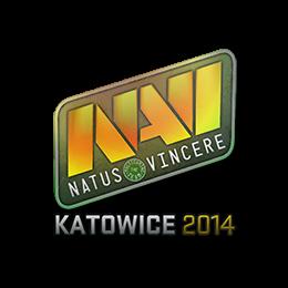 Наклейка | Natus Vincere (голографическая) | Катовице 2014