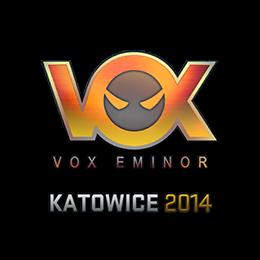 Наклейка   Vox Eminor (голографическая)   Катовице 2014