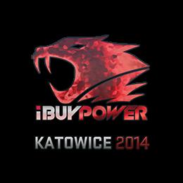 Наклейка   iBUYPOWER (голографическая)   Катовице 2014