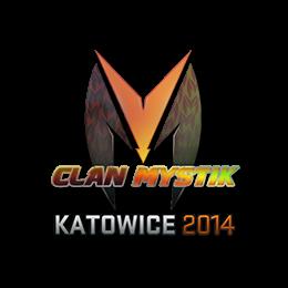Наклейка | Clan-Mystik (голографическая) | Катовице 2014