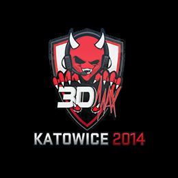 Наклейка   3DMAX   Катовице 2014